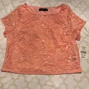 Light pink crop top